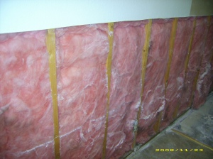 Water saturated insulation