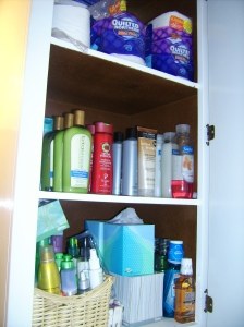 toilet paper, shampoos, tissue and mouthwash
